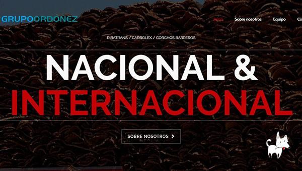 Diseño Web corporativo para Grupo de empresas Ordoñez
